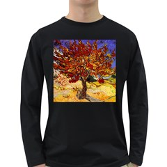 Vincent Van Gogh Mulberry Tree Mens' Long Sleeve T-shirt (Dark Colored)