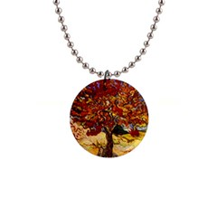 Vincent Van Gogh Mulberry Tree Button Necklace