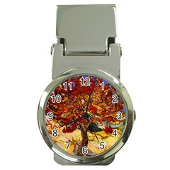 Vincent Van Gogh Mulberry Tree Money Clip with Watch