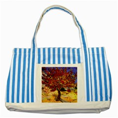 Vincent Van Gogh Mulberry Tree Blue Striped Tote Bag
