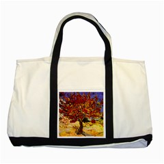 Vincent Van Gogh Mulberry Tree Two Toned Tote Bag