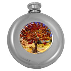 Vincent Van Gogh Mulberry Tree Hip Flask (Round)