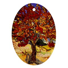 Vincent Van Gogh Mulberry Tree Oval Ornament (two Sides)