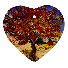 Vincent Van Gogh Mulberry Tree Heart Ornament (two Sides)