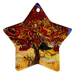 Vincent Van Gogh Mulberry Tree Star Ornament (Two Sides)