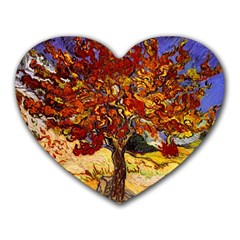 Vincent Van Gogh Mulberry Tree Mouse Pad (Heart)