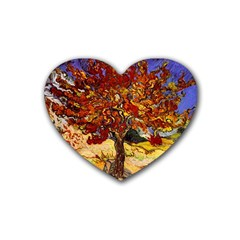 Vincent Van Gogh Mulberry Tree Drink Coasters 4 Pack (Heart)