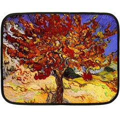 Vincent Van Gogh Mulberry Tree Mini Fleece Blanket (Two Sided)