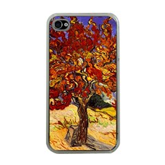 Vincent Van Gogh Mulberry Tree Apple Iphone 4 Case (clear)