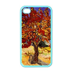 Vincent Van Gogh Mulberry Tree Apple Iphone 4 Case (color)