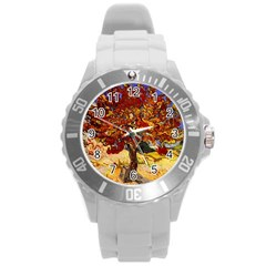 Vincent Van Gogh Mulberry Tree Plastic Sport Watch (Large)