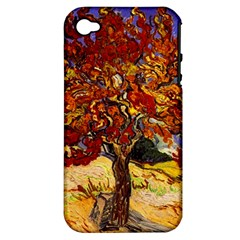 Vincent Van Gogh Mulberry Tree Apple iPhone 4/4S Hardshell Case (PC+Silicone)