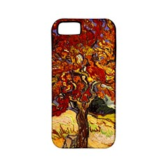 Vincent Van Gogh Mulberry Tree Apple iPhone 5 Classic Hardshell Case (PC+Silicone)
