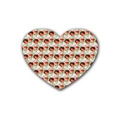 Vintage Valentine Drink Coasters 4 Pack (Heart)