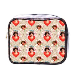 Vintage Valentine Mini Travel Toiletry Bag (One Side)