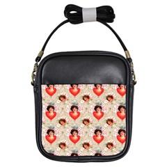Vintage Valentine Girl s Sling Bag