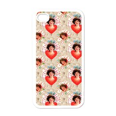 Vintage Valentine Apple iPhone 4 Case (White)