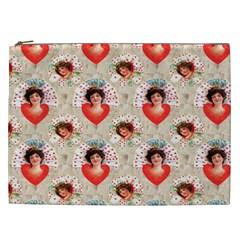 Vintage Valentine Cosmetic Bag (XXL)