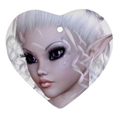 Fairy Elfin Elf Nymph Faerie Heart Ornament