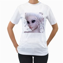 Fairy Elfin Elf Nymph Faerie Womens  T-shirt (White)