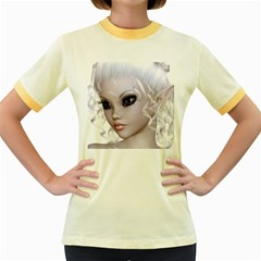 Fairy Elfin Elf Nymph Faerie Womens  Ringer T Shirt (colored)