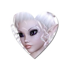 Fairy Elfin Elf Nymph Faerie Magnet (heart)