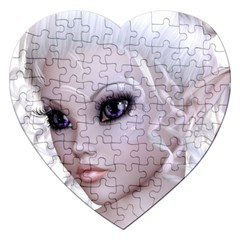 Fairy Elfin Elf Nymph Faerie Jigsaw Puzzle (heart)
