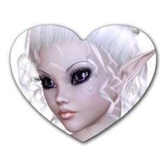 Fairy Elfin Elf Nymph Faerie Mouse Pad (Heart)