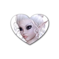 Fairy Elfin Elf Nymph Faerie Drink Coasters (Heart)