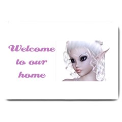 Fairy Elfin Elf Nymph Faerie Large Door Mat