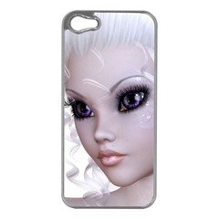 Fairy Elfin Elf Nymph Faerie Apple iPhone 5 Case (Silver)