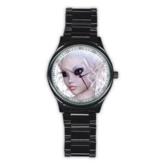 Fairy Elfin Elf Nymph Faerie Sport Metal Watch (Black)