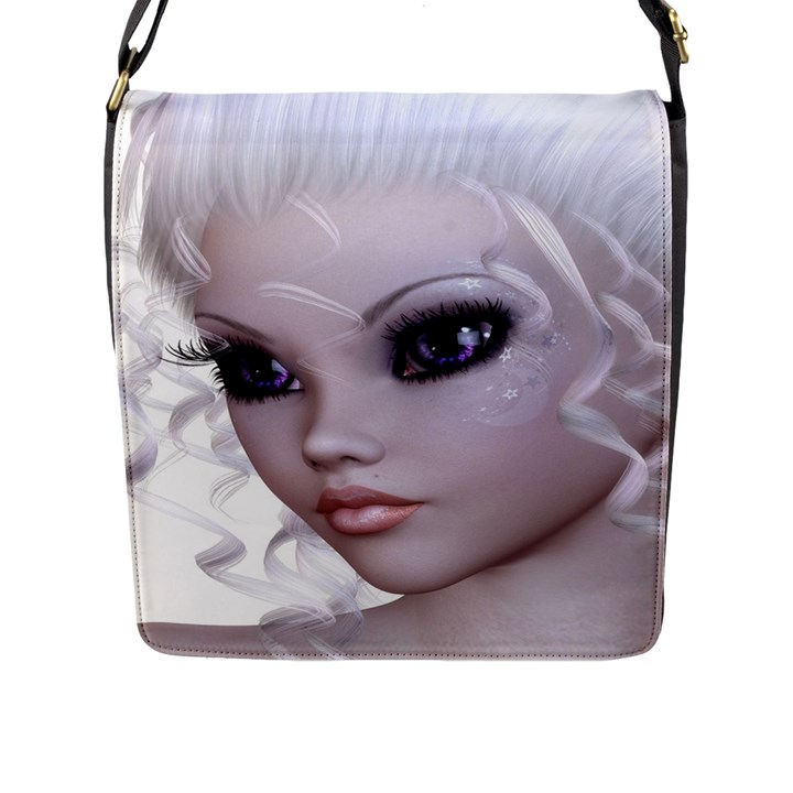Beautiful fairy nymph faerie fairytale Flap Closure Messenger Bag (Large)