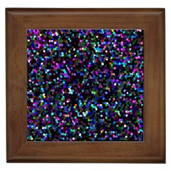 Glitter 1 Framed Ceramic Tile