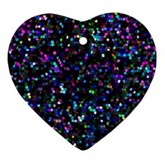 Glitter 1 Heart Ornament