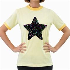 Glitter 1 Women s Ringer T-shirt (Colored)