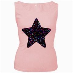 Glitter 1 Women s Tank Top (Pink)