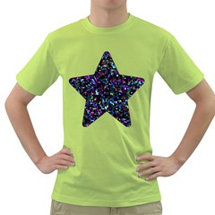 Glitter 1 Men s T Shirt (green)