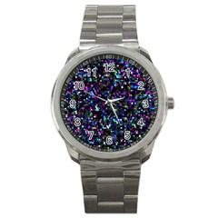 Glitter 1 Sport Metal Watch
