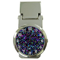 Glitter 1 Money Clip with Watch