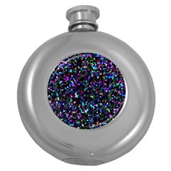 Glitter 1 Hip Flask (Round)