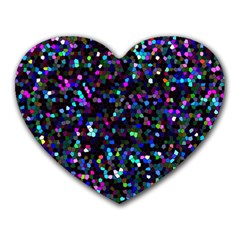 Glitter 1 Mouse Pad (heart)