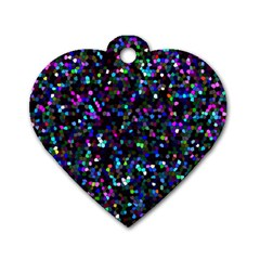 Glitter 1 Dog Tag Heart (one Sided)