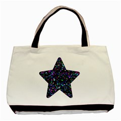 Glitter 1 Twin-sided Black Tote Bag