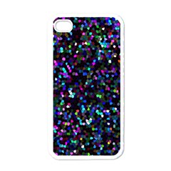 Glitter 1 Apple iPhone 4 Case (White)