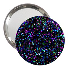 Glitter 1 3  Handbag Mirror