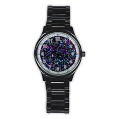 Glitter 1 Sport Metal Watch (Black)