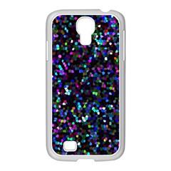 Glitter 1 Samsung GALAXY S4 I9500/ I9505 Case (White)