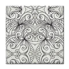 Drawing Floral Doodle 1 Ceramic Tile