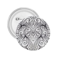 Drawing Floral Doodle 1 2.25  Button